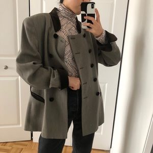 Christian Dior vintage wool velvet blazer
